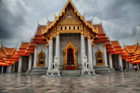 The Marble Temple  Wat Benchamabophit  HDR III