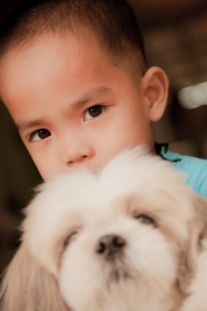 Child and Dog photo