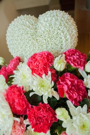 Heart flowers with jasmine photo