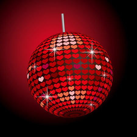 Heart Mirror Ball