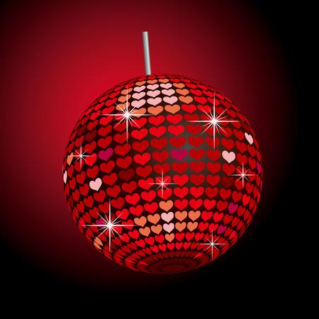 glitter heart: Heart Mirror Ball