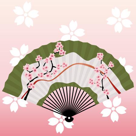 japanese fan:  japanese fan Illustration