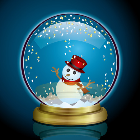christal: Snow Globe Illustration