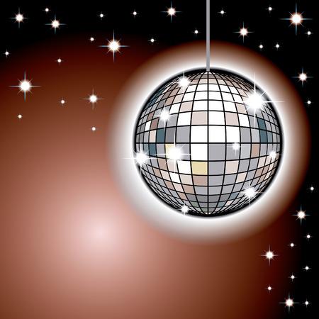 night club interior: Mirror Ball
