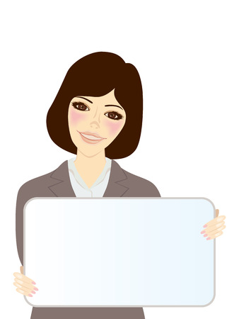 Whiteboard and Women Stock Vector - 6747453