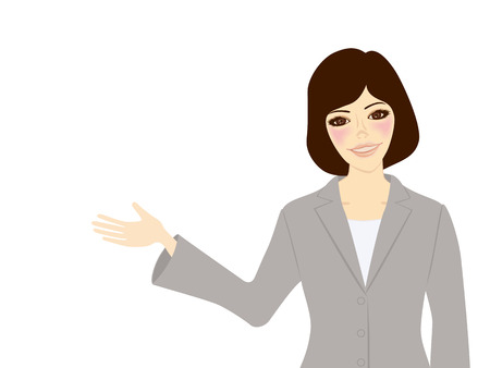 asian business people: Showing Business Woman Illustration