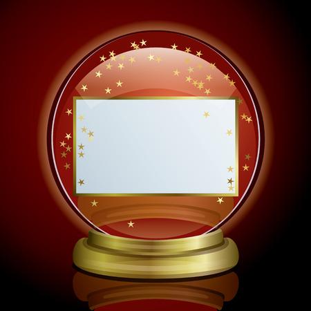 Snow Globe & Card Stock Vector - 6769433