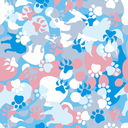 fatigues: Seamless Dog Camouflage Pattern Illustration