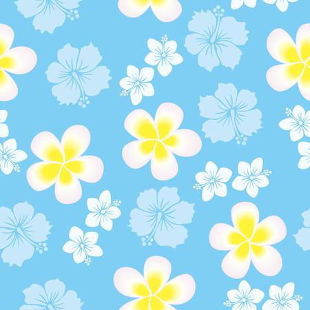 sarong: Seamless hibiscus pattern