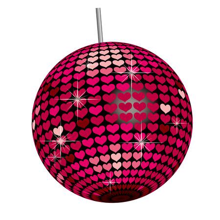 70s disco: Heart Mirror Ball