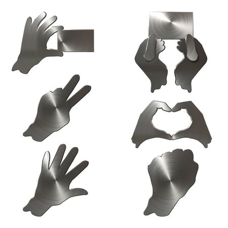 grope: Hand  Icon Set