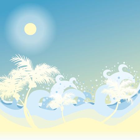 miami south beach: Background Beach  Illustration