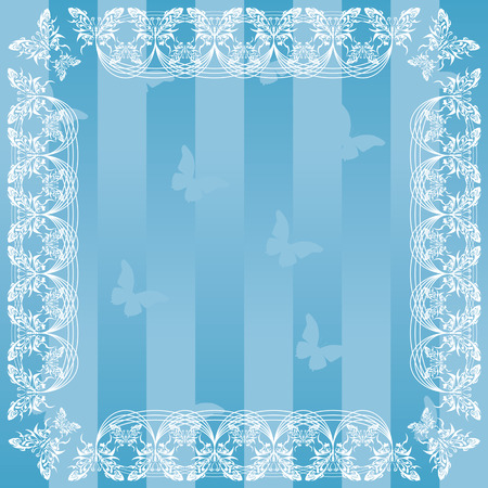Frame Butterfly  Vector