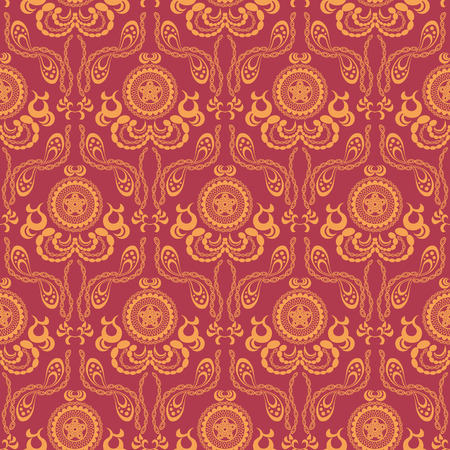 indian pattern: seamless background