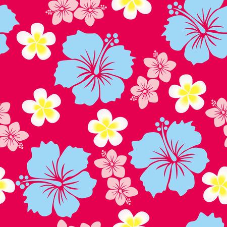 hawaiana: Fondo de hibisco Vectores