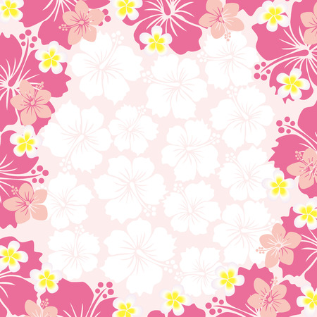 sarong: Hibiscus Frame