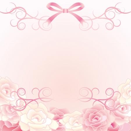 背景の花  イラスト・ベクター素材