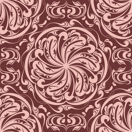 renaissance art: Seamless Floral Pattern Illustration