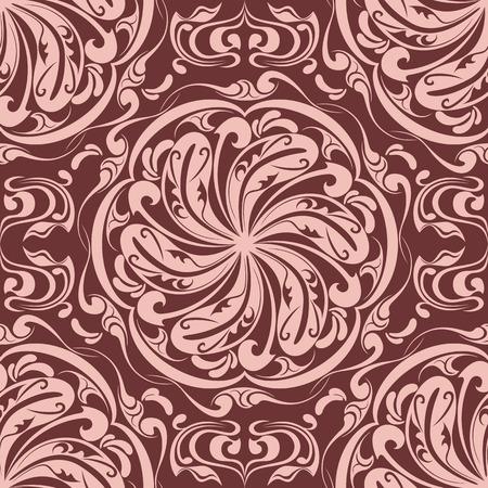 venetian victorian: Seamless Floral Pattern Illustration