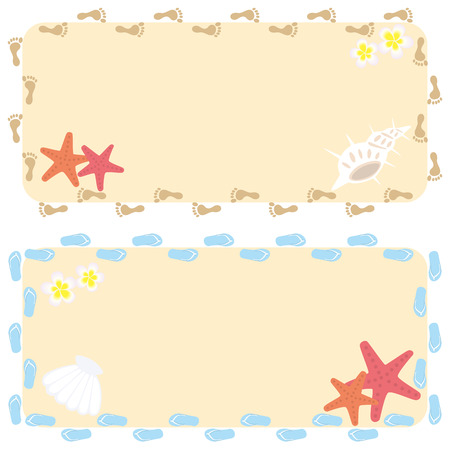 Beach Frame Stock Vector - 6965215