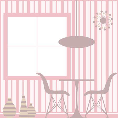 vintage living room: Interior background