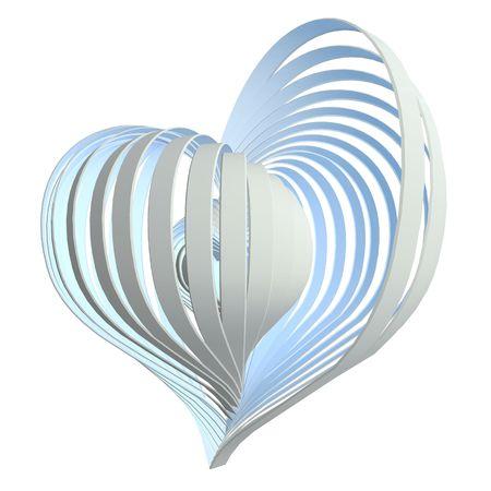 Heart Object Blue
