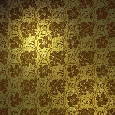 Background Hibiscus Gold