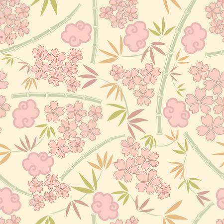 Modèle de plantes japonais