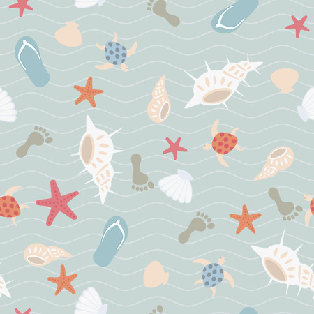 Seamless sea pattern Stock Vector - 6965342