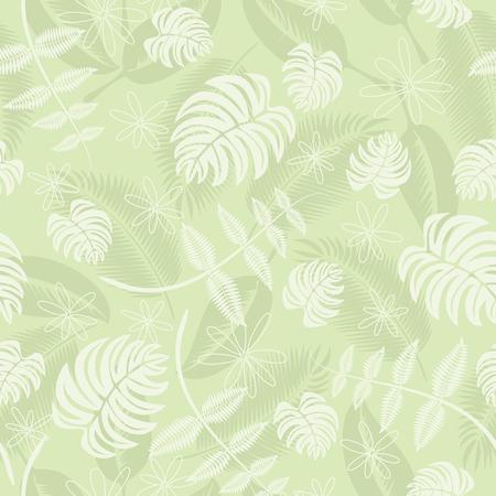 Seamless tropical leafs pattern  イラスト・ベクター素材