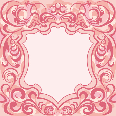 抽象的なピンクの花のフレーム