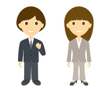 Business man and women  Vector