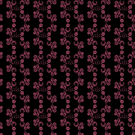 Abstract seamless black and pink pattern Illustration