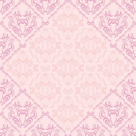 Seamless floral frame Vector
