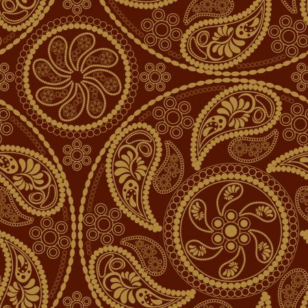 Seamless retro mandala pattern Stock Vector - 7068285