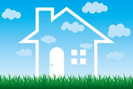 Sky House Stock Vector - 7068286