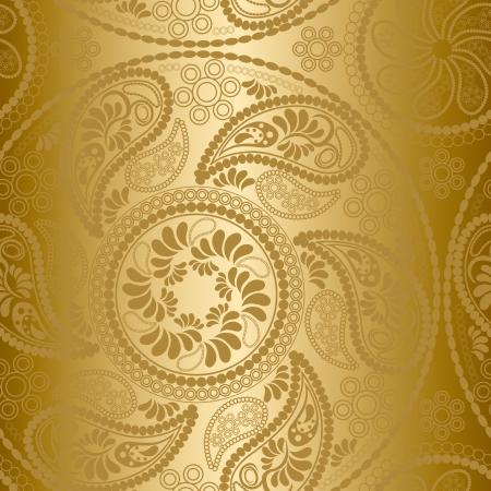 motif indiens: Motif de mandala or transparente