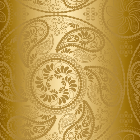 Seamless gold mandala pattern Vector