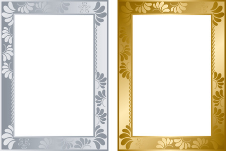 金と銀のフレームを抽象化します。