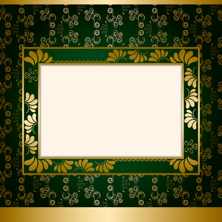 baroque border: Abstract decoration frame Illustration