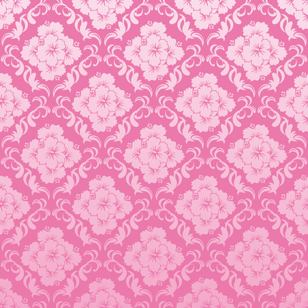 luau: Abstract seamless hibiscus  pattern