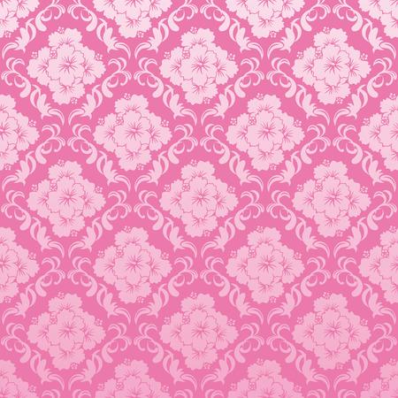 sarong: Abstract seamless hibiscus  pattern