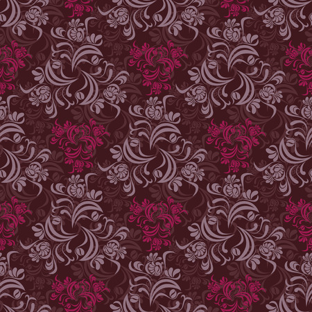 victorian style: Abstract seamless floral pattern