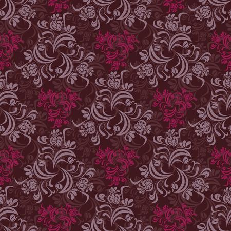 Abstracta patrón floral transparente