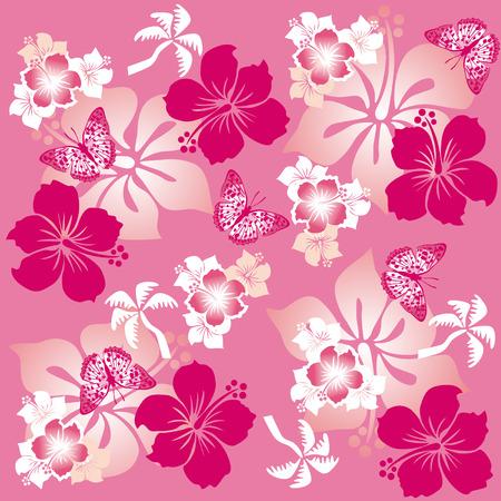 hibiscus flower: Hibiscus Pattern