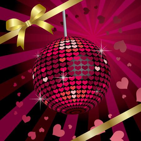 mirrorball: Ribbon & Heart Mirrorball