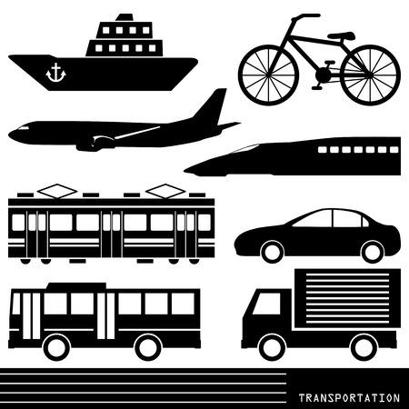 silhouette voiture: Silhouette de transport Illustration