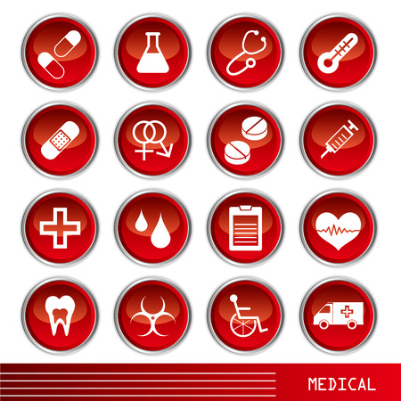 Medical icons set Stock Vector - 7165418