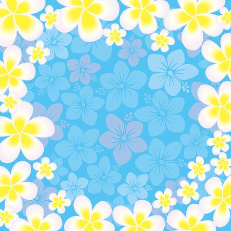aloha: Abstract hibiscus frame