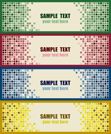 Abstract tiles background Vector